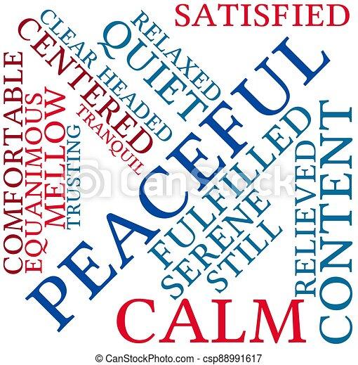 雲, 平和である, 単語 - csp88991617