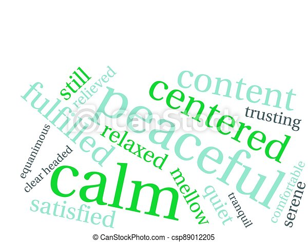 雲, 平和である, 単語 - csp89012205