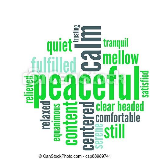 雲, 平和である, 単語 - csp88989741