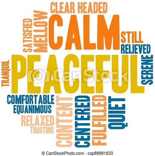 雲, 平和である, 単語 - csp88991633