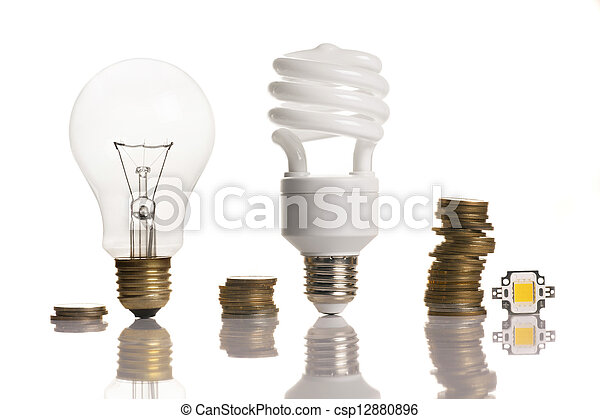 電球, 別, タイプ, ライト - csp12880896