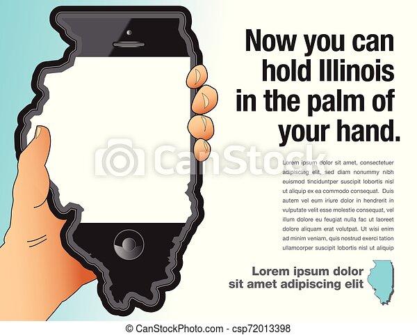 電話, 手, 痛みなさい, イリノイ, 手掛かり - csp72013398