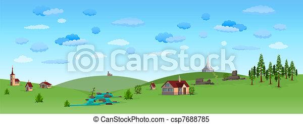 青い空, 風景, 自然 - csp7688785