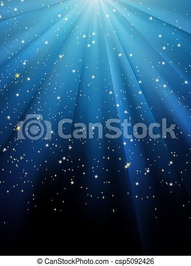 青, eps, バックグラウンド。, 星, 8, しまのある - csp5092426