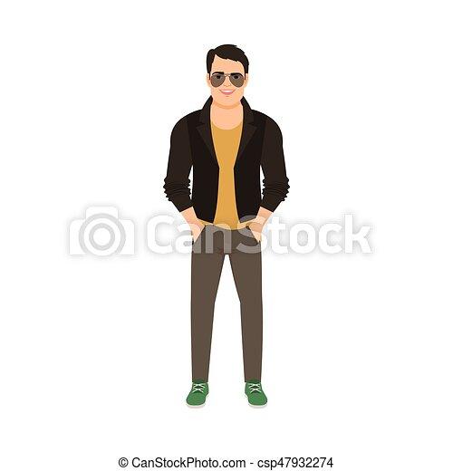 革のジャケット, 人 - csp47932274