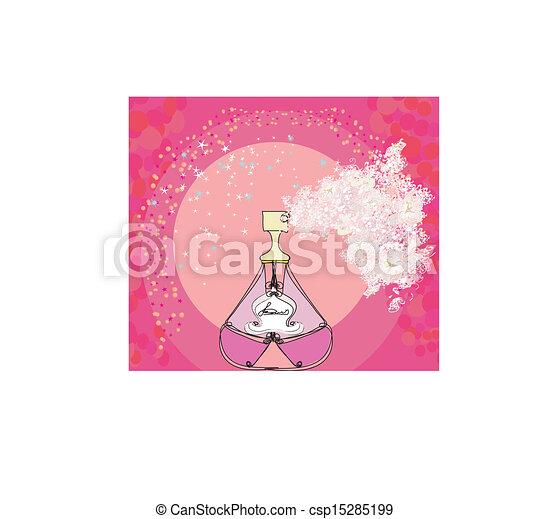 香水のビン, 香り, 花 - csp15285199
