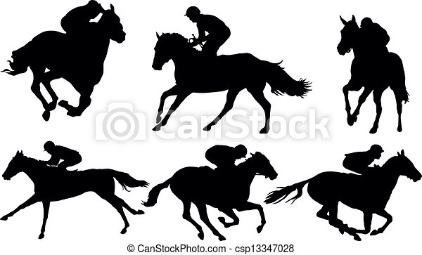 馬 競争 - csp13347028