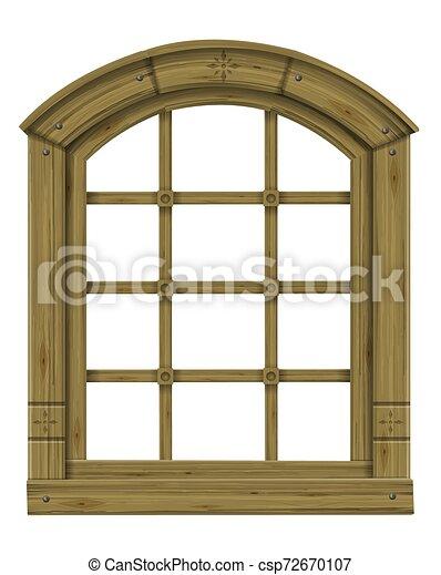 骨董品, アーチ形にされる, 木製である, スカンジナビア人, ファンタジー, 窓, gothic - csp72670107