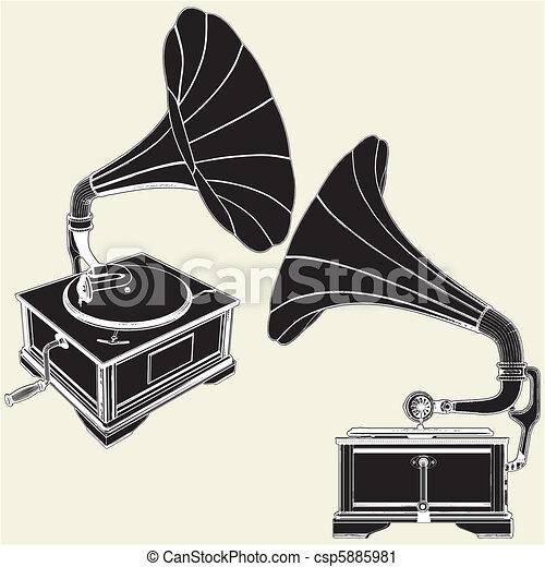 骨董品, 蓄音機 - csp5885981