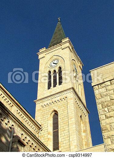 11 月, franciscan, タワー, 教会, jaffa, 2011 - csp9314997