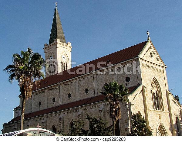 11 月, franciscan, 教会, jaffa, 2011 - csp9295263