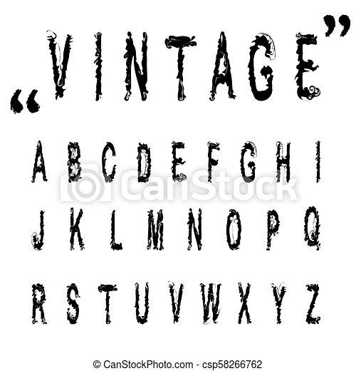 abc, .nice, illustration., アルファベット, 手紙, 手, ベクトル, 型, design., 引かれる, 壷, あなたの, 株 - csp58266762