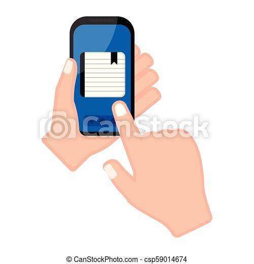 app, smartphone, 保有物, 議題, 手 - csp59014674