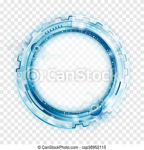 backgr, 抽象的, 技術, 円 - csp38952115