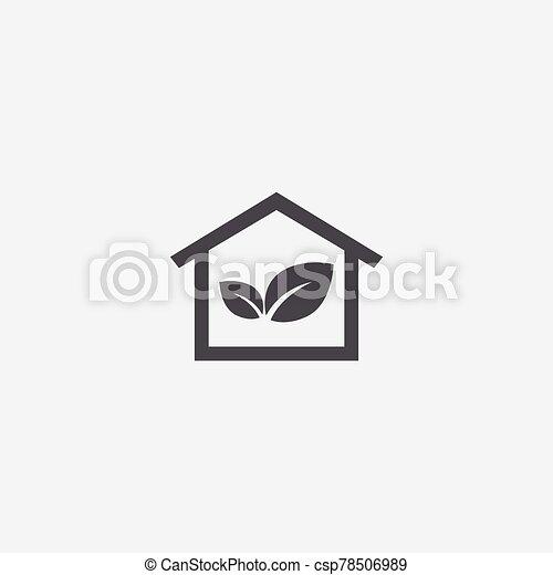 bio, 家, アイコン - csp78506989