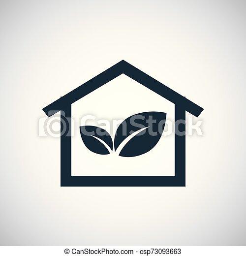 bio, 概念, 平ら, 単純である, 要素, デザイン, 家, アイコン - csp73093663