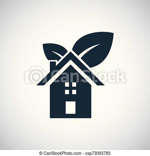 bio, 概念, 平ら, 単純である, 要素, デザイン, 家, アイコン - csp73093783