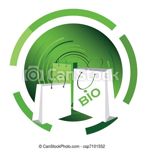bio, 買い物袋 - csp7101552