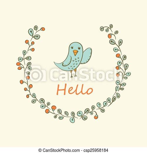 bird., グリーティングカード - csp25958184