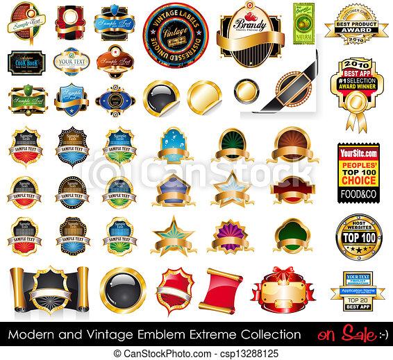 collection., 紋章, 極点, 現代, 型 - csp13288125