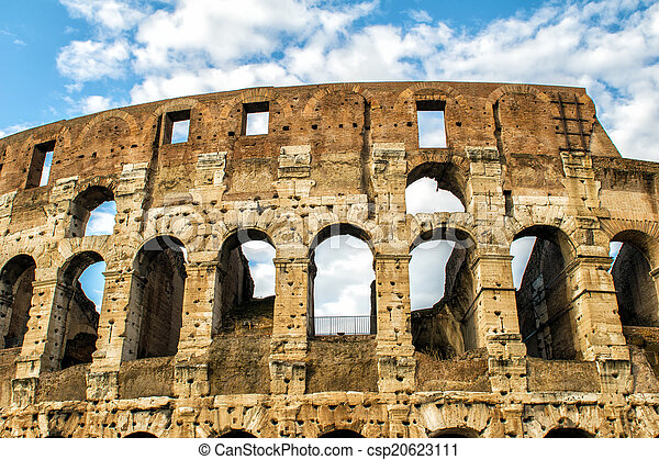 colosseum, rome., 夕闇 - csp20623111