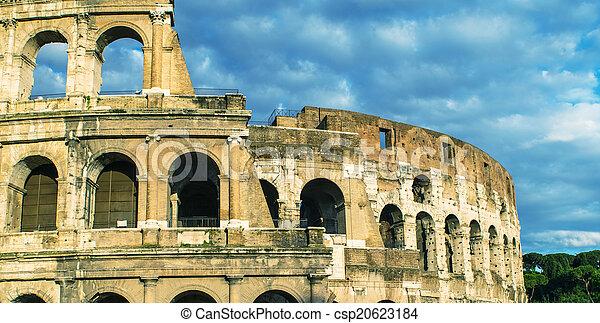 colosseum, rome., 夕闇 - csp20623184