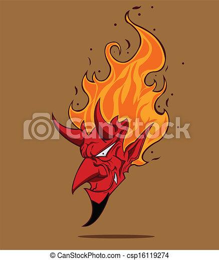 devil., ハロウィーン, モンスター, 赤 - csp16119274