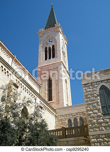 franciscan, jaffa, 2011, 教会 - csp9295240