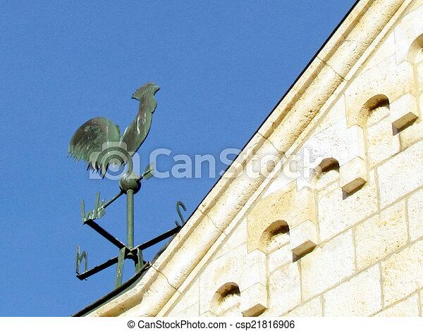 franciscan, weathercock, 教会, jaffa, 2011 - csp21816906