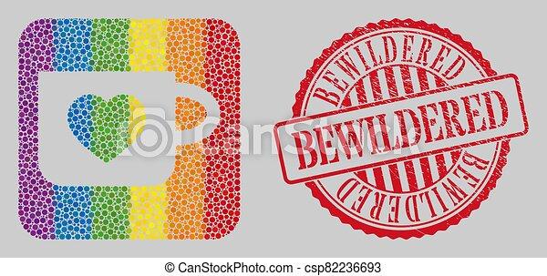 lgbt, 当惑させている, 型板, 切手, 苦脳, モザイク, カップ, お気に入り - csp82236693