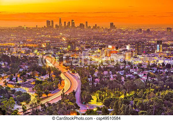 los, スカイライン, カリフォルニア, アンジェルという名前の人たち - csp49510584