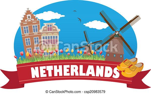 netherlands., 観光事業, 旅行 - csp20983579