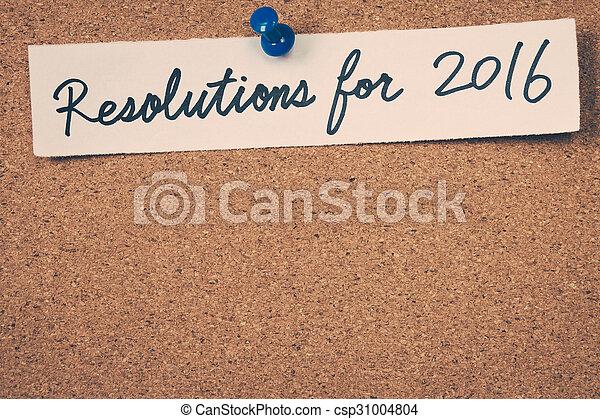 resolutions, 2016 - csp31004804