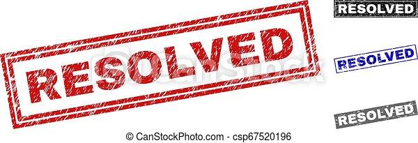 resolved, スタンプ, グランジ, 長方形, textured - csp67520196
