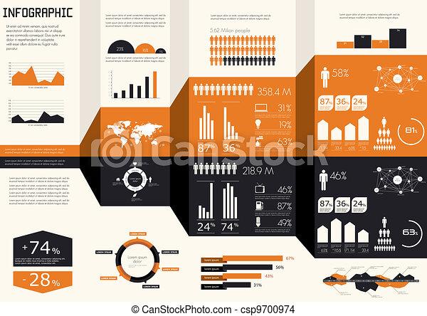 set., infographics, 細部 - csp9700974