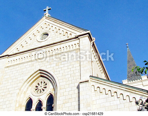 st. 。, franciscan, 教会, jaffa, アンソニー, 切妻, 2011 - csp21681429