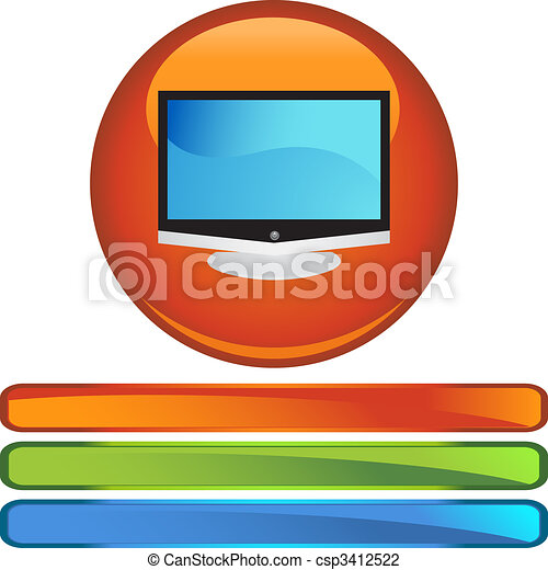 tv, 平らなスクリーン - csp3412522