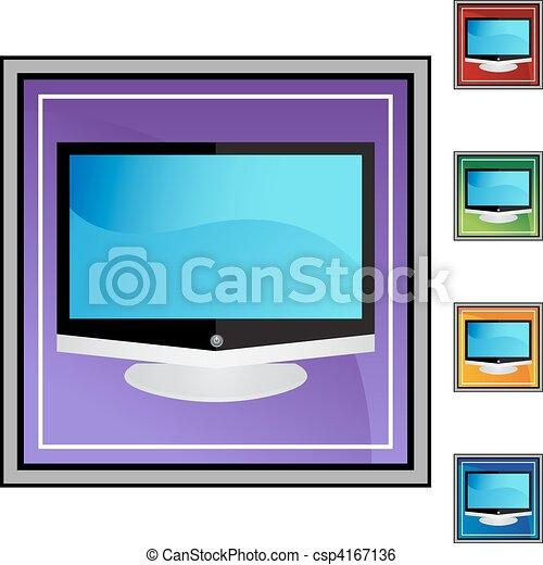 tv, 平らなスクリーン - csp4167136