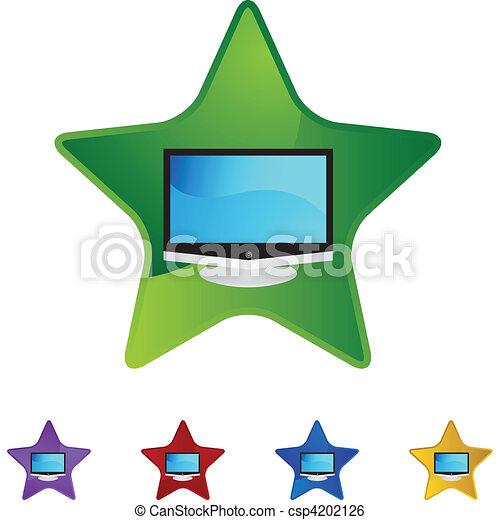 tv, 平らなスクリーン - csp4202126