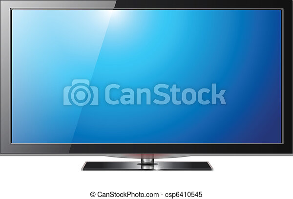 tv, 平らなスクリーン - csp6410545