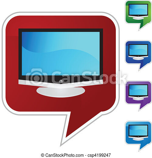 tv, 平らなスクリーン - csp4199247