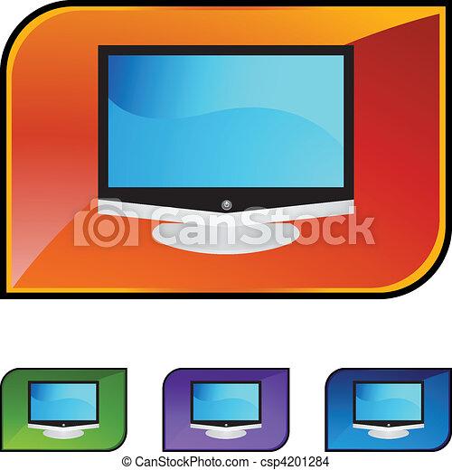 tv, 平らなスクリーン - csp4201284